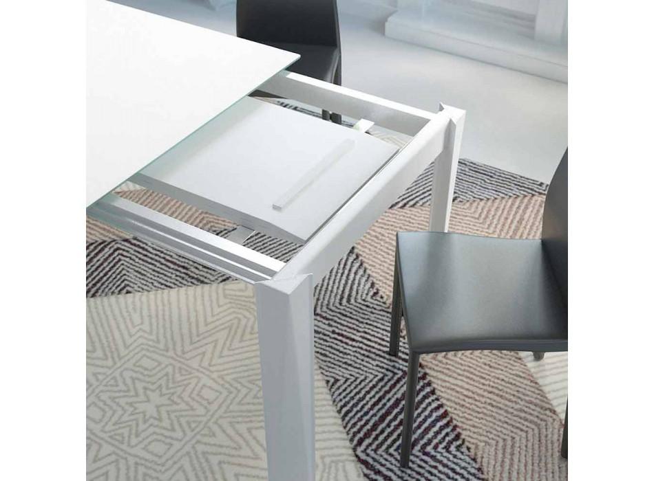 Ausziehbarer Esstisch Bis zu 250 cm aus Mattglas Made in Italy - Namiba