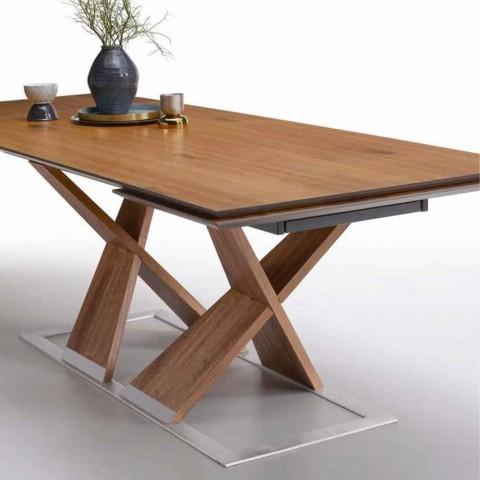 Ausziehbarer Esstisch Bis zu 294 cm aus Holz Made in Italy - Monique