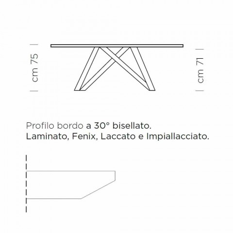 Ausziehbarer Esstisch bis 300 cm aus Laminat Made in Italy - Settimmio