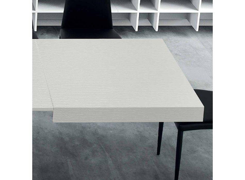 Ausziehbarer Esstisch bis 310 cm in Holz und Stahl - Argentario