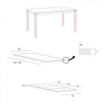 Ausziehbarer Esstisch Bis zu 334 cm Holzoptik Made in Italy - Maltesisch