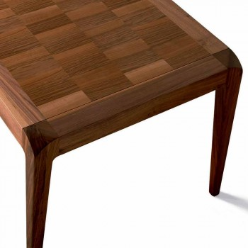 Esstisch ausziehbar natürlichen Nussbaum Holz modernes Design Sanni