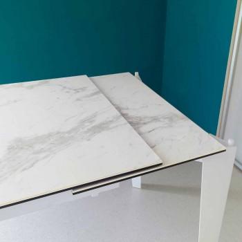 Ausziehbarer Glaskeramik-Esstisch, 120 / 170xP80 cm, Bino