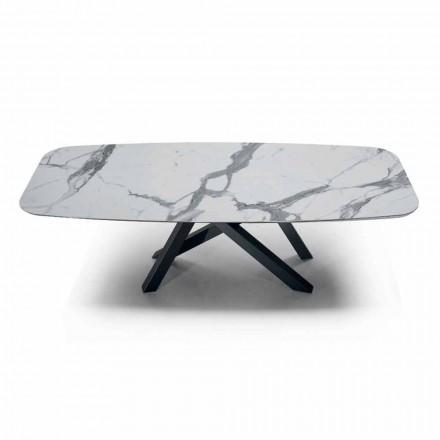 Esstisch mit Platte aus Hypermarble Made in Italy, Precious - Settimmio