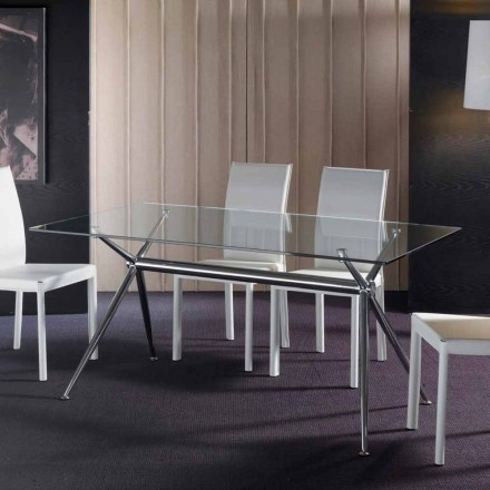 Hartglas Tisch in modernem Design Thor