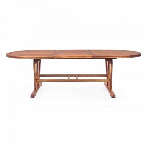 Ausziehbarer Esstisch im Freien Bis zu 240 cm in Holz - Kaley