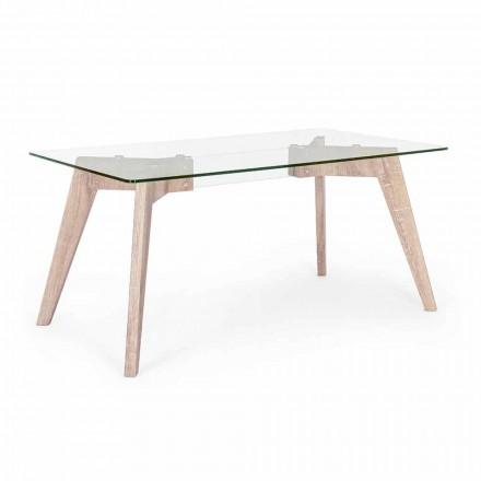 Homemotion Modern Design Esstisch mit Glasplatte - Piovra