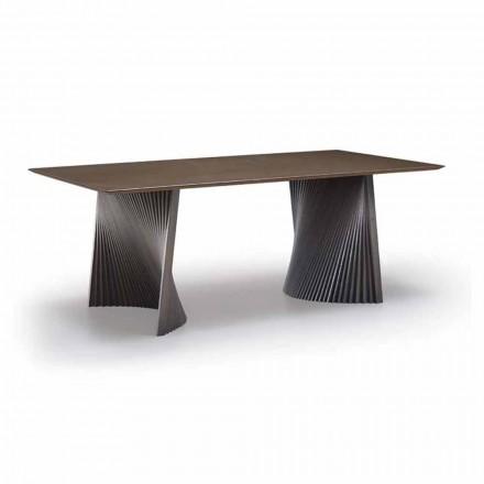 Esstisch in modernem Design aus Gres und Esche Made in Italy - Charol