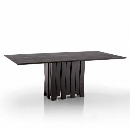 Design-Esstisch aus MDF-Holz made in Italy, Egisto