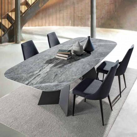 Moderner Esstisch mit Porzellan Steinzeugplatte - Meduno