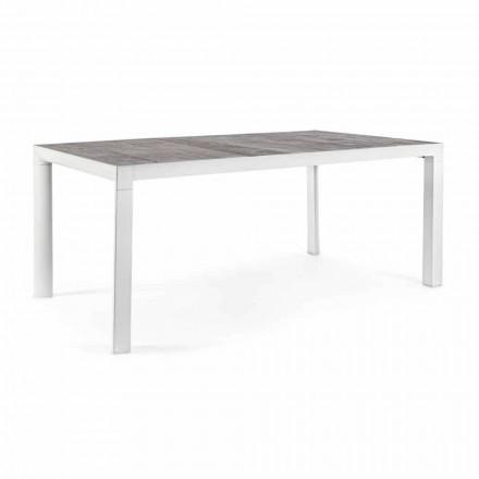 Esstisch im Freien mit Keramikplatte und Aluminiumbasis - Jen