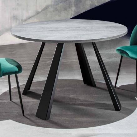 Runder Esstisch ausziehbar Bis zu 370 cm in Holz und Metall - Caimano