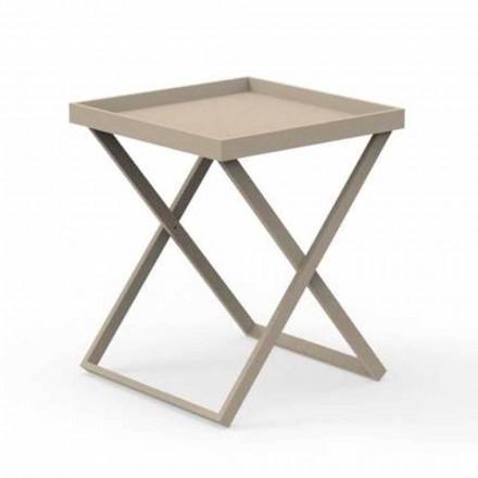 Design Aluminium Outdoor Service Tisch, 2 Höhen - Ray von Talenti