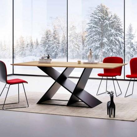Design Esstisch aus Mehrschichtholz made in Italy Amaro