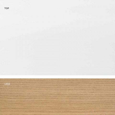 Ausziehbarer Tisch aus Glas und Massivholz made in Italy, Dimitri