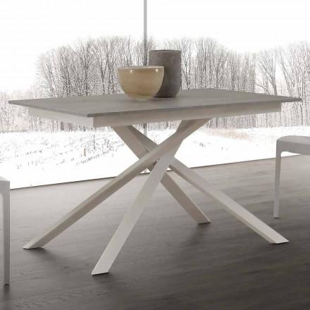 Ausziehbarer Esstisch bis 190 cm aus Holz mit einer Kreuzstruktur Lecce