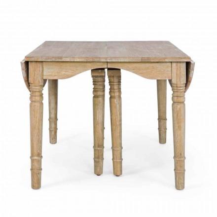 Klassischer Tisch aus Massivholz ausziehbar Bis zu 382 cm Homemotion - Brindisi