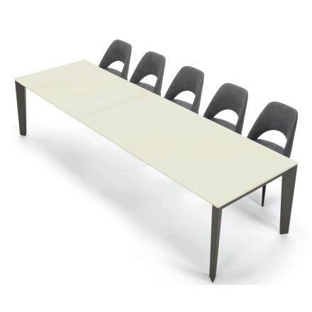 Moderner Esstisch ausziehbar 16 Sitzplätze aus laminiertem Holz Fenix – Settanta