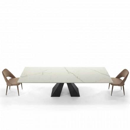 Moderner Esstisch ausziehbar bis 300 cm aus Ipermarmor r – Dalmata