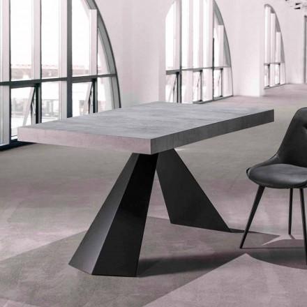 Esstisch mit ausziehbarer Platte Bis zu 290 cm in Holz - Doriano