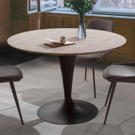 Esstisch mit ausziehbarer runder Platte bis zu 170 cm - Moreno