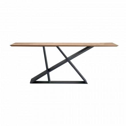 Ausziehbarer Esstisch Bis zu 294 cm aus Holz, Made in Italy Qualität - Cirio