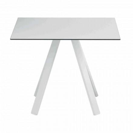 Quadratischer Tisch im Freien aus Metall und HPL Made in Italy - Deandre