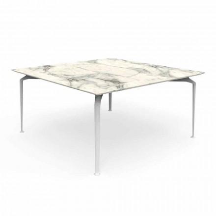 Quadratischer Tisch für modernes Design im Freien Gres und Aluminium - Cruise Alu Talenti