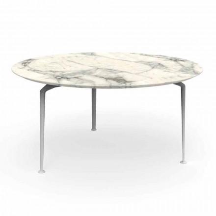 Runder Tisch im Freien mit modernem Design aus Gres und Aluminium - Cruise Alu Talenti