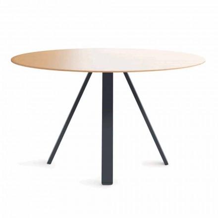 Runder Esstisch aus Metall und MDF Made in Italy - Cornelius