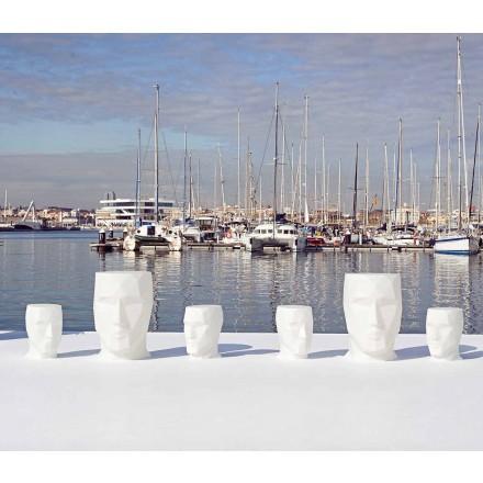 Moderner, gesichtsförmiger Outdoor-Tisch Adan von Vondom aus Polyethylen