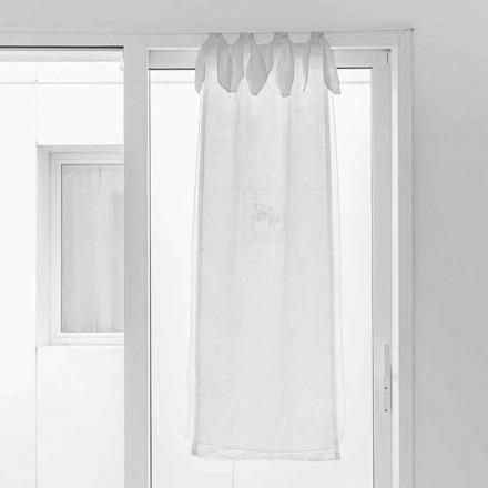 Vorhang mit Leinengaze und weißem Organza von elegantem Design - Tapioka