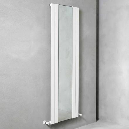 Design Vertikaler Badezimmerheizkörper aus Stahl mit 587 W Spiegel - Picchio