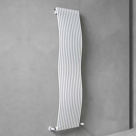 Vertikaler Badezimmerheizkörper Modernes Design Wellig 1181 Watt - Tucano