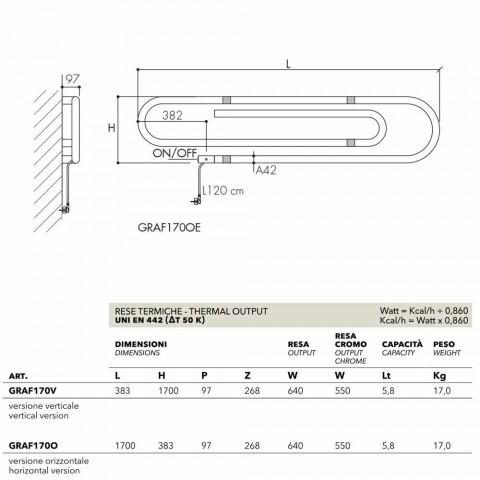Termoarredo elektrisches Klammerdesign mit Chromoberfläche Scirocco H