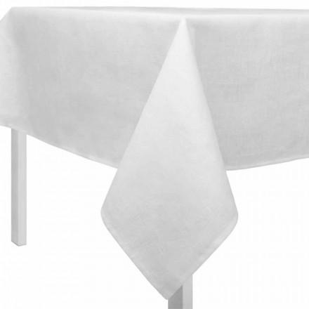 Rechteckige oder quadratische cremeweiße Tischdecke Made in Italy - Blessy