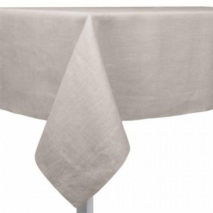 Tischdecke aus natürlichem, rechteckigem oder quadratischem Leinen Made in Italy - Poppy