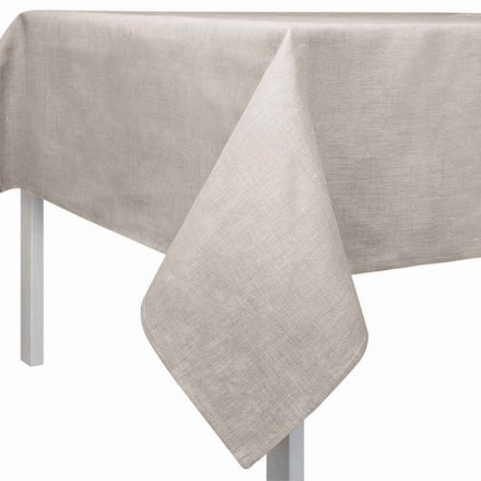 Rechteckige oder quadratische Tischdecke in natürlicher Farbe Made in Italy - Blessy