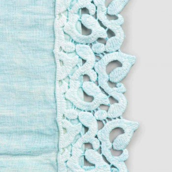 Amerikanische Tischsets aus Leinen mit Poema Lace, 3 Farben 2 Stück - Leonardino