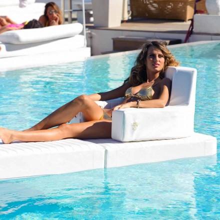 Trona weiß Design schwimmenden Sessel in Italien hergestellt