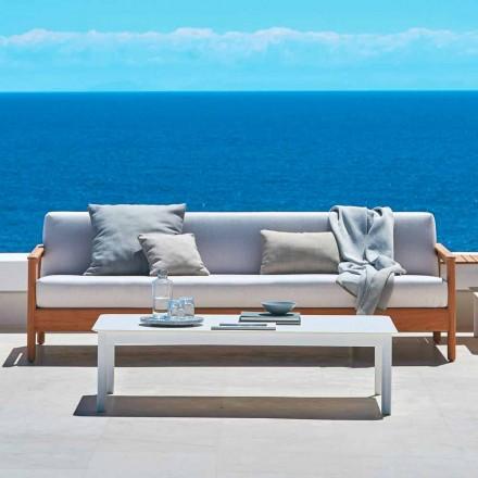 Moderner 3-Sitzer Gartensofa aus massivem Teakholz Varaschin Bali