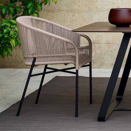 Hochwertiger Outdoor Sessel handgeflechtet 2 Teile Varaschin