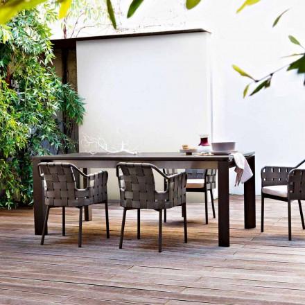 Ausziehbarer Gartentisch aus lackiertem Aluminium Varaschin Dolmen