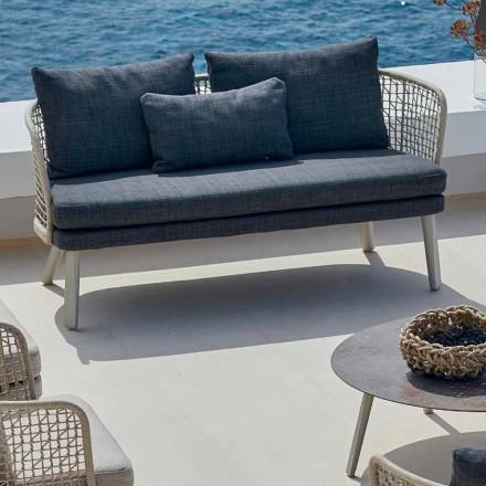 Modernes 2-Sitzer Gartensofa gepolstert Varaschin Emma