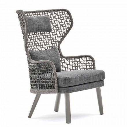Moderner Outdoor-Sessel mit Kopfstütze aus Stoff Varaschin Emma