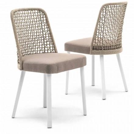 Design Stuhl aus Stoff und Aluminium Varaschin Emma