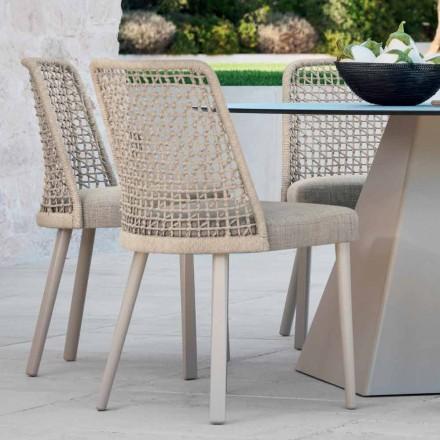 Design Gartenstuhl aus Stoff und Aluminium Varaschin Emma