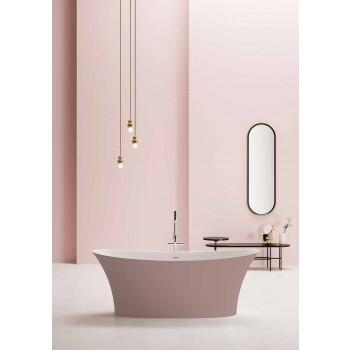 Freistehende zweifarbige Badewanne, Solid Surface Design - Look
