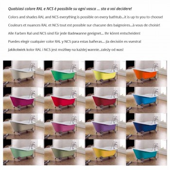 Badewanne freistehend farbigen Eisen modernes Design Betty