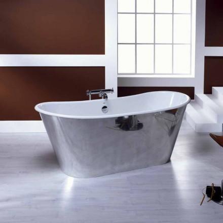 Freistehende Badewanne aus Gusseisen in modernem Design Ida